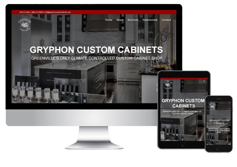 Custom Cabinet Supplier Website Design
