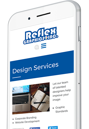 Promotional Products Website Design on a Mobile Device