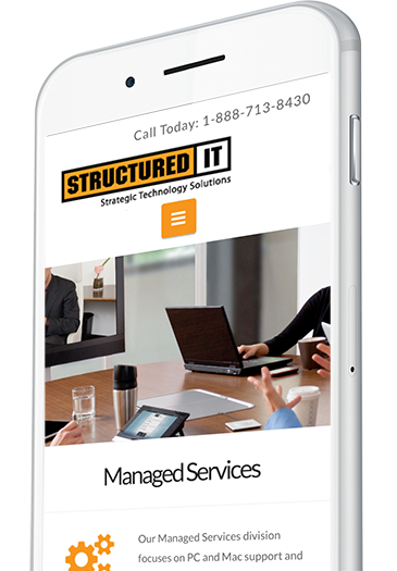 Managed IT Services Website Design on a Mobile Device