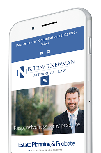 Attorney Website Design on a Mobile Device