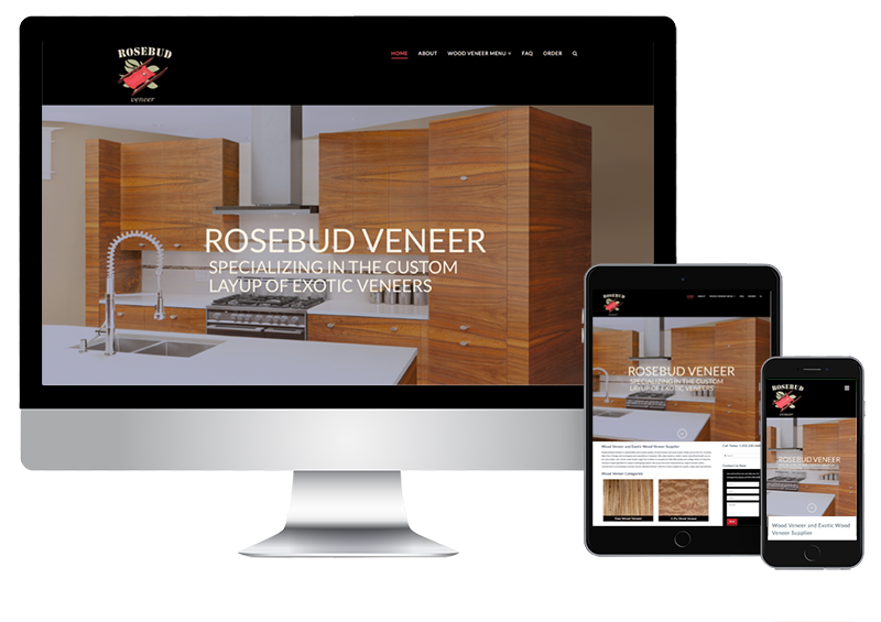 Wood Veneer Supplier Website Design