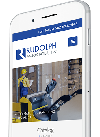 Material Handling Website Design on a Mobile Device