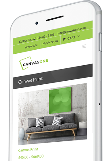 Ecommerce Website Design on Mobile Device